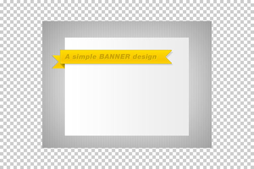 Simple folded banner (psd)
