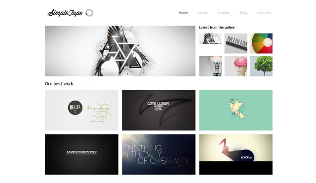 5 free website design templates web graphic design for Free portfolio website templates