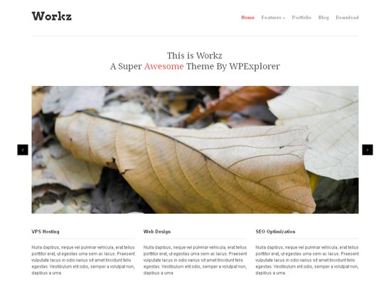 Workz Free Business & Portfolio WordPress Theme