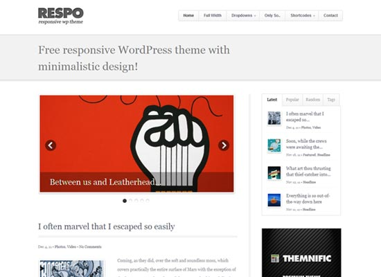 Respo – Free and fully responsive WordPress theme