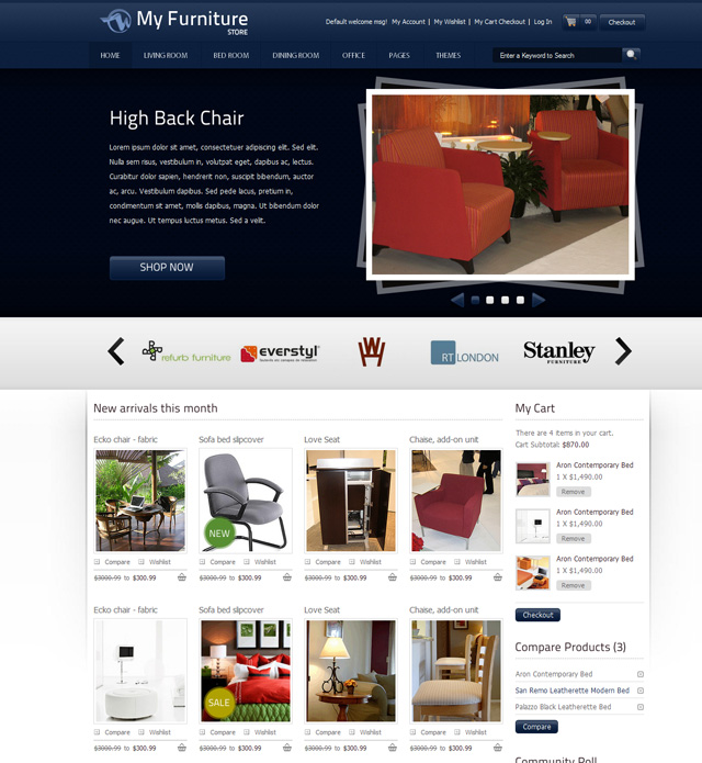 8 Best Furniture Website Templates