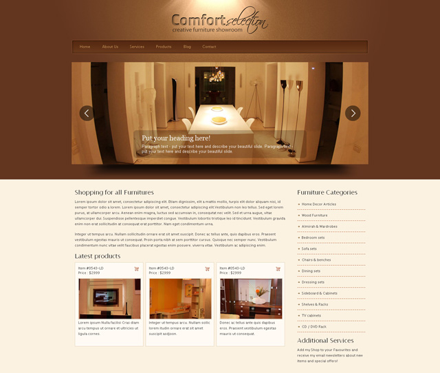 8 best furniture website templates web graphic design