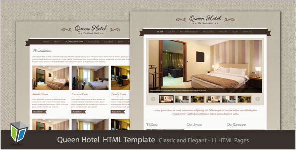 Queen Hotel   Classic And Elegant HTML Template