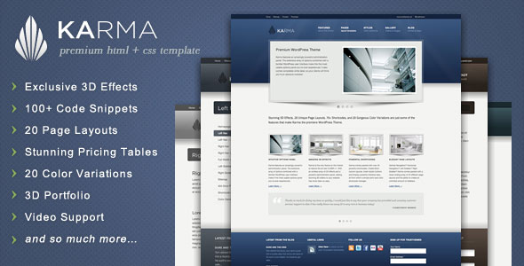 Karma - Clean and Modern Website Template
