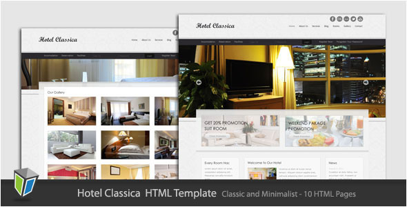 Hotel Classica - Clean Minimalist HTML Template