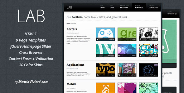 54 beautiful html5 portfolio website templates web graphic