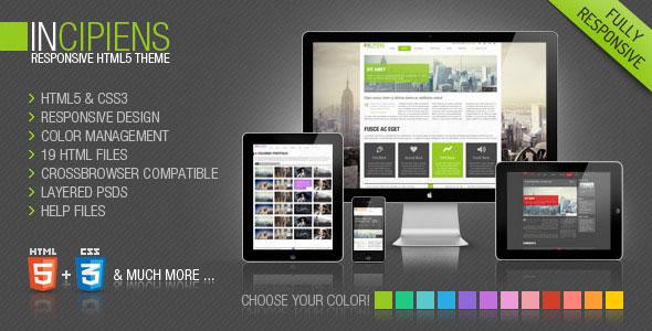 Incipiens Responsive Portfolio HTML5 Template