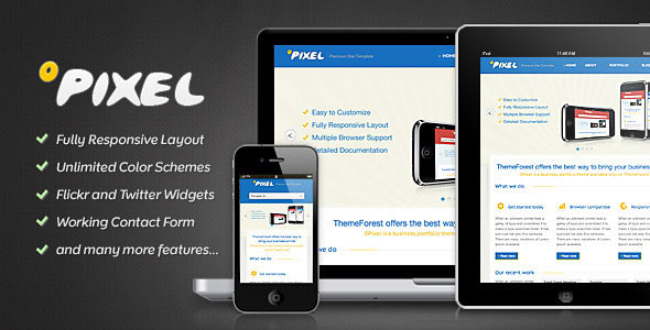 0Pixel - Responsive HTML5 Template