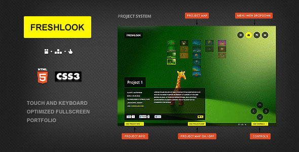 Freshlook - HTML5 and CSS3 Fullscreen template