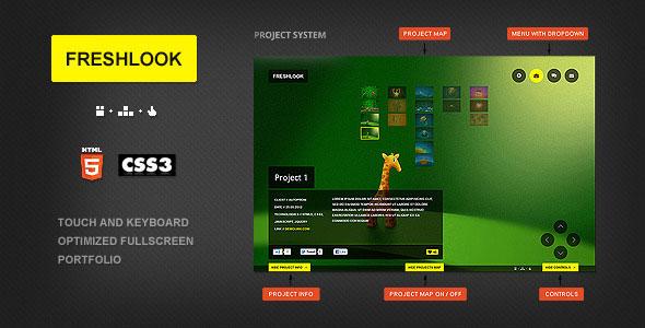 Freshlook - HTML5 and CSS3 Fullscreen template