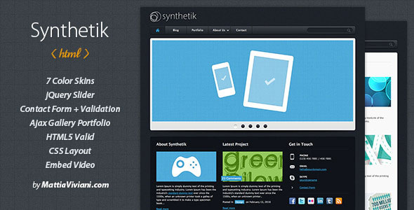 Synthetik Professional xHTML Template