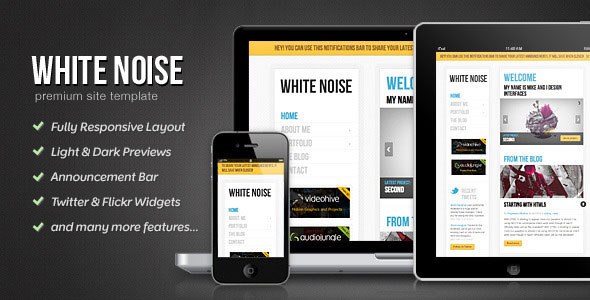 White Noise - HTML5 Template
