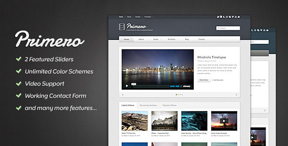 Primero - Video Site Template