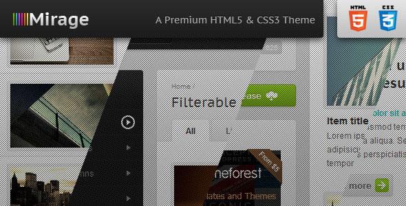 Mirage - Premium HTML & CSS Template