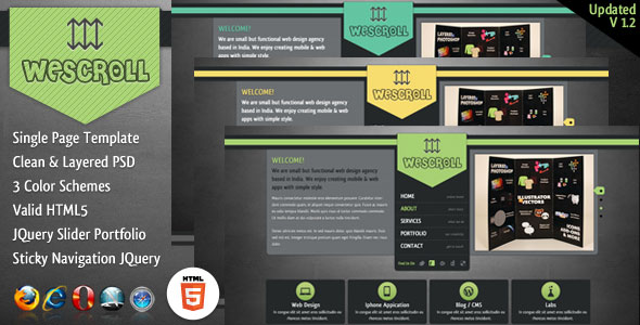 Wescroll Single Page Template