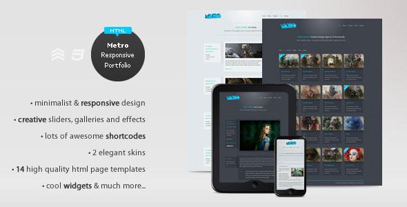 Metro - Responsive Portfolio HTML Theme