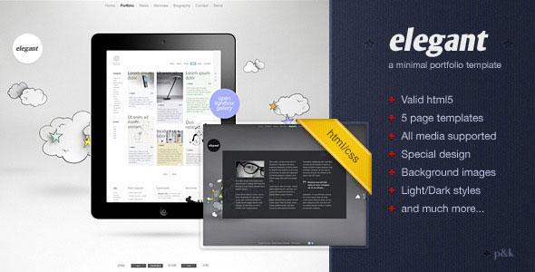 Elegant Html Templates 54 Beautiful HTML5 Portfolio Website Templates | Web ...
