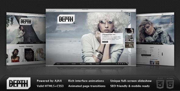 Depth HTML – Full-Screen AJAX Portfolio