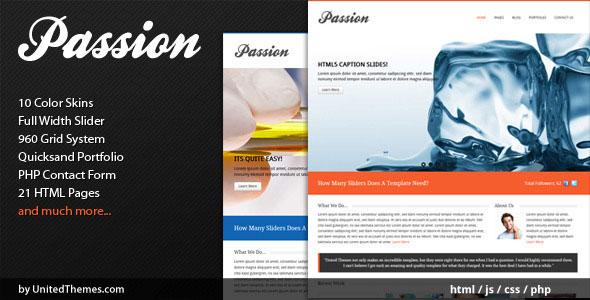 Passion - Modern Portfolio HTML Template