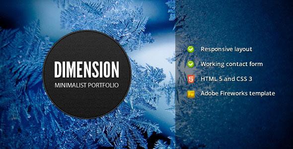 Dimension - Minimalist Portfolio Template