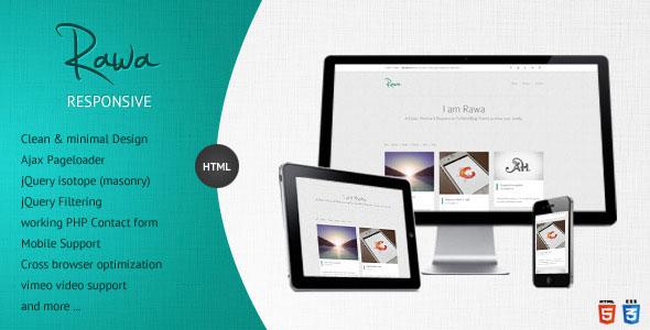 Rawa - Clean / Responsive / Minimal / HTML5