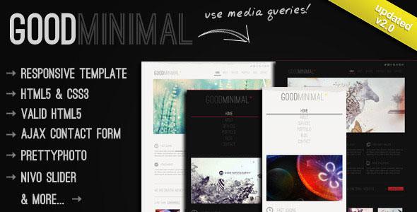 Good Minimal - A Responsive HTML5 Template