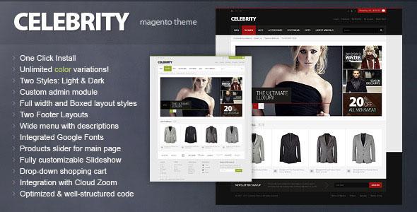 Celebrity - Magento theme
