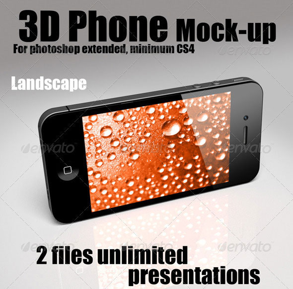 3D Object - Phone Mock-up