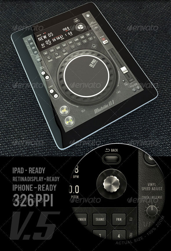 Tablet/Phone User Interface Professional Set V. 5