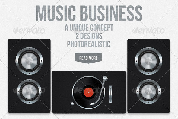 20 creative business card templates that help you stand out from the music business card 1 fbccfo Choice Image