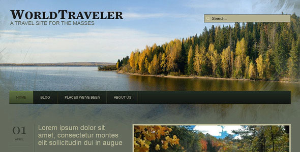 WP World Traveler - Travel WordPress Theme