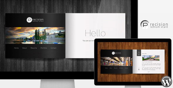 Precision - Premium vCard WordPress Theme