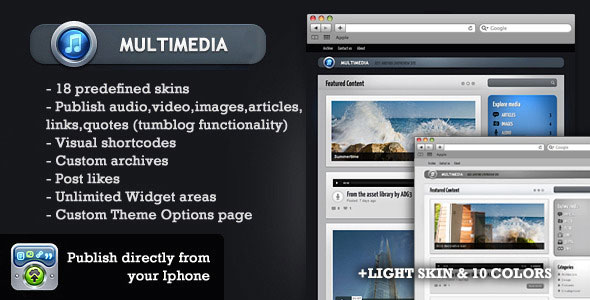 MultimediaWP - WordPress Tumblog theme