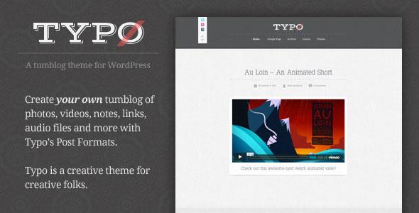 Typo - Tumblog Style WordPress Theme
