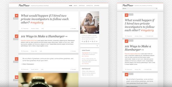 PixelPower - Responsive HTML5/CSS3 WordPress Theme