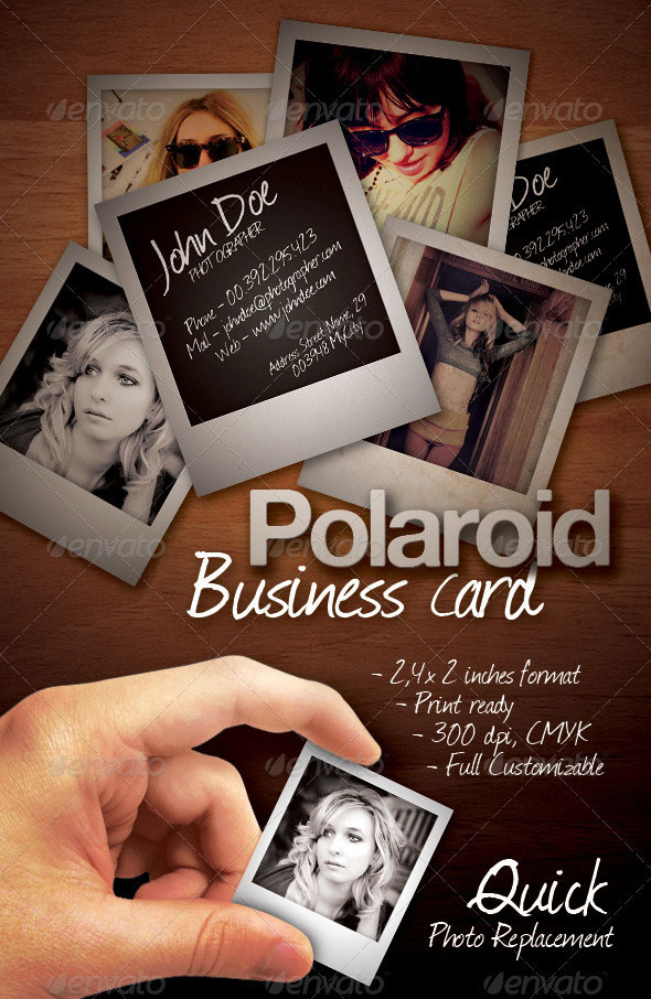 Polaroid Business Card