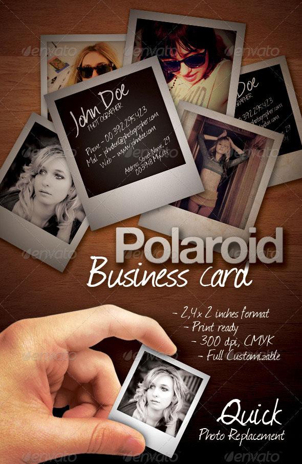 Polaroid Business Card