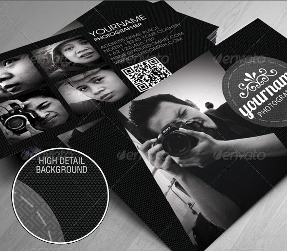10 professional photography business card templates web graphic simple portfolio business card accmission Choice Image