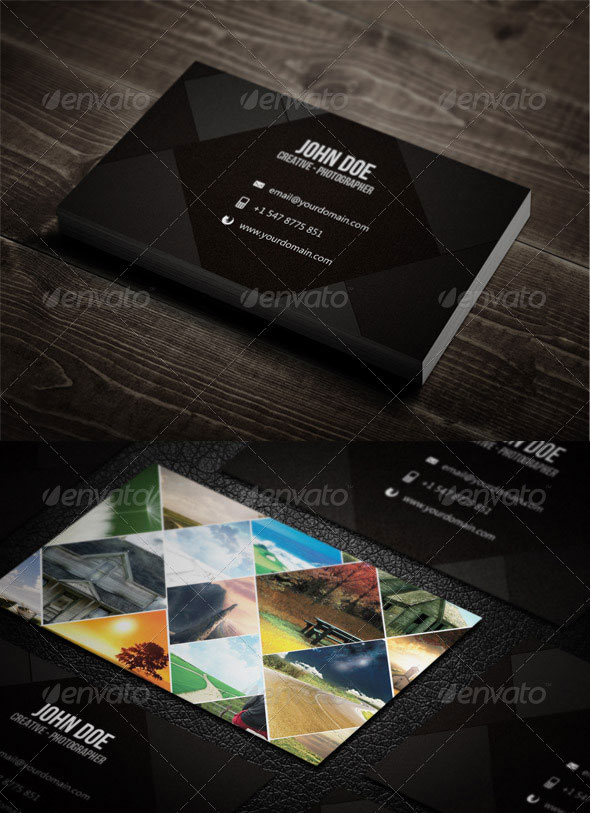 10 Professional Photography Business Card Templates Web Graphic