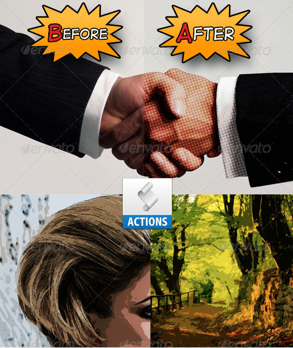 Cartoon/Comic-book effect Action