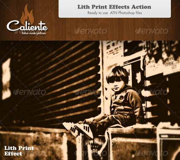 Lith Print Effect - Photoshop Action