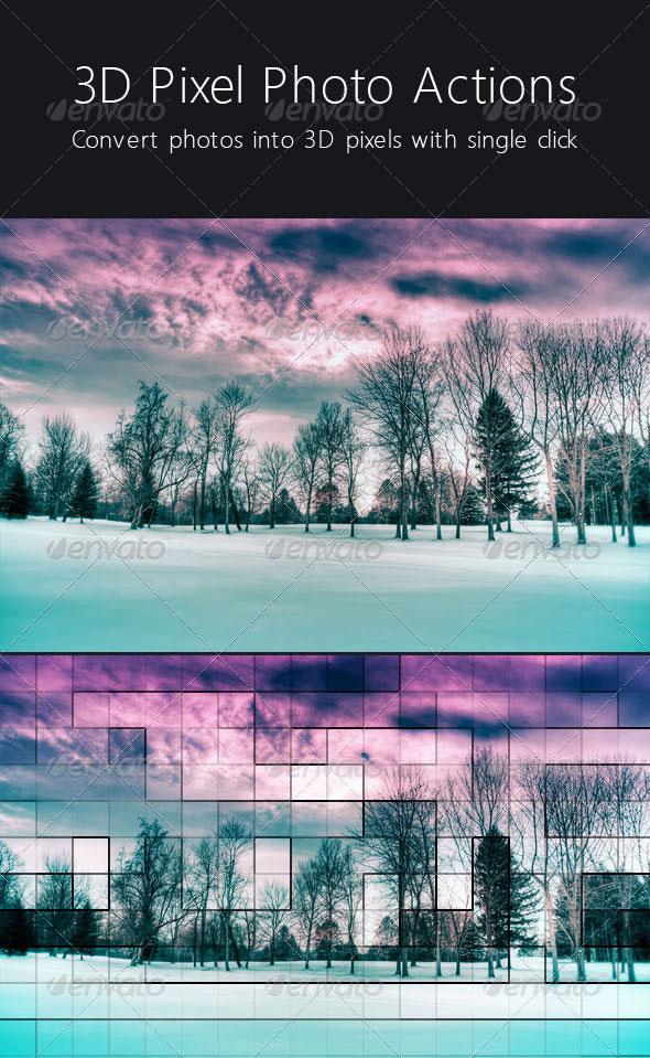 3D Pixel Photo Action