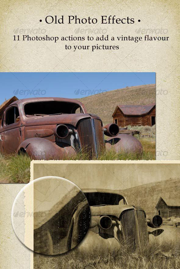 11 Old Photo Effects Actions