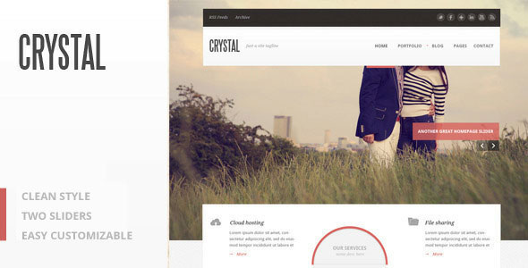 Crystal - PSD Theme