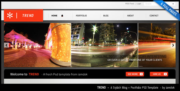 TREND - a stylish web 2.0 psd template