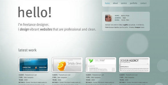 27 Beautiful Portfolio PSD Website Templates | Web & Graphic ...
