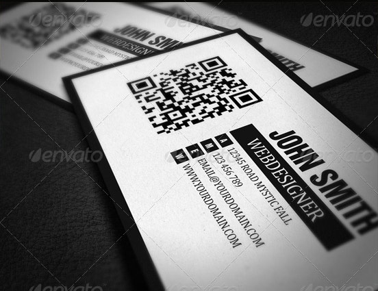 QR Code Minimalistic Business Card