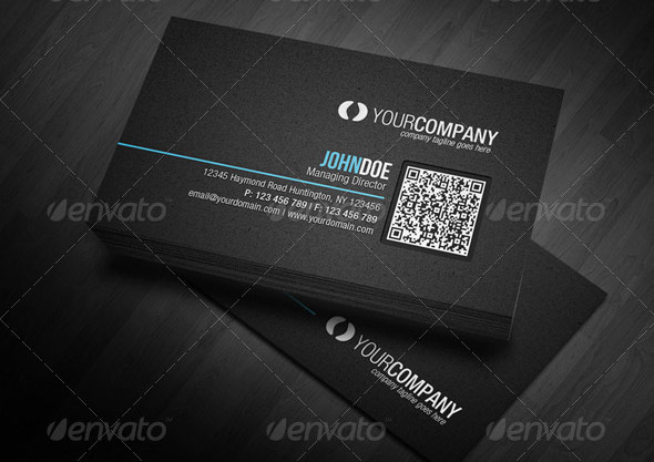 Corporate QR Code Business Card V2