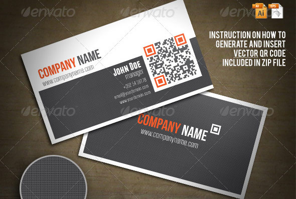 Qr code on business card tiredriveeasy qr code on business card colourmoves Images
