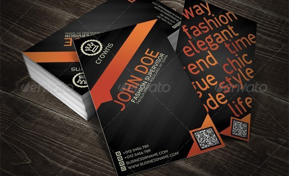 QR Modern Professional Business Card